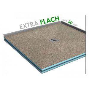 Extraflache befliesbare Duschwanne 120x100x3cm bis 150x100x3cm