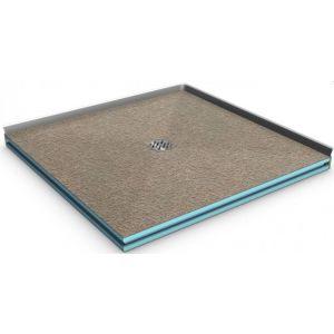 befliesbare Duschwannen, quadratische Form 80x80x4cm bis 150x150x4cm