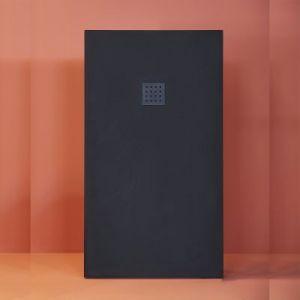 Mineralguss Duschwanne superflach 100x80x3cm