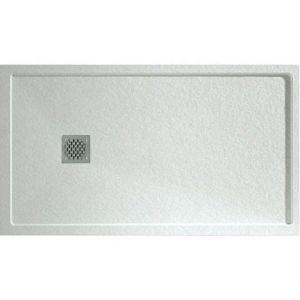Mineralguss-Duschbecken mit Rand 120x90